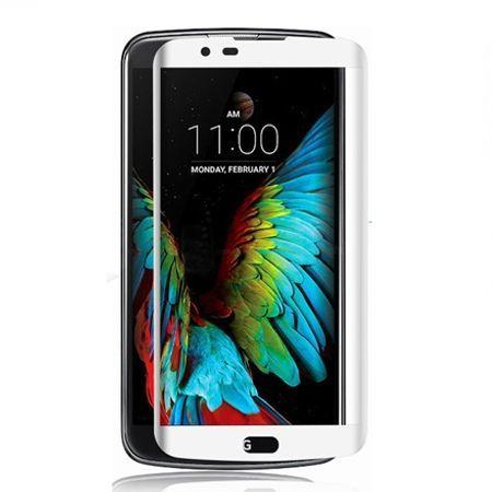 LG K10 - Hartowane szkło na cały ekran - Biały.