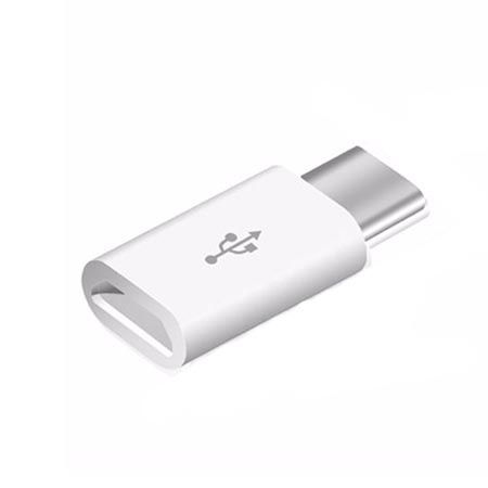 Adapter na kabel Micro-USB do Typ-C - biały.