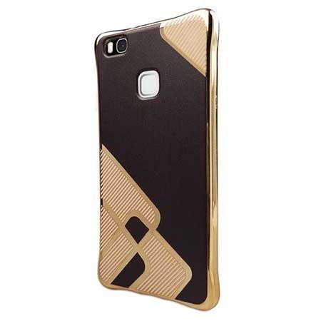 Silikonowe etui na Huawei P9 Lite platynowane Kwadraty - brązowe. PROMOCJA
