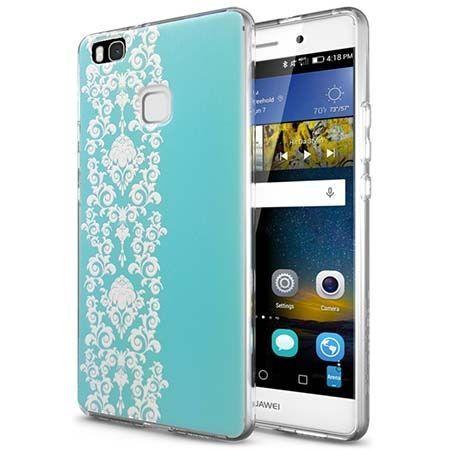 Silikonowe etui na Huawei P9 Lite Henna Lace - niebieskie. PROMOCJA