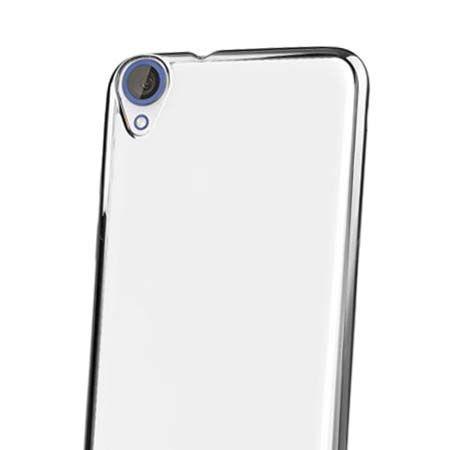 Silikonowe etui na HTC Desire 820 platynowane SLIM - srebrne.