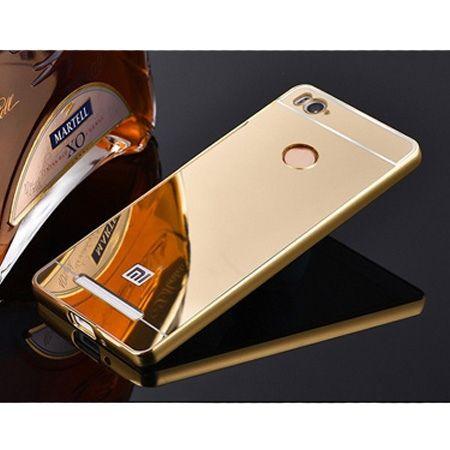 Mirror bumper case na Xiaomi Redmi 3 Pro - Złoty.