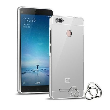 Mirror bumper case na Xiaomi Redmi 3 Pro - srebrny.