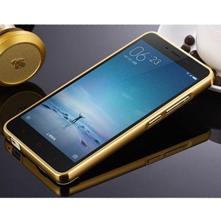 Mirror bumper case na Xiaomi Redmi Note 3 Pro - złoty.