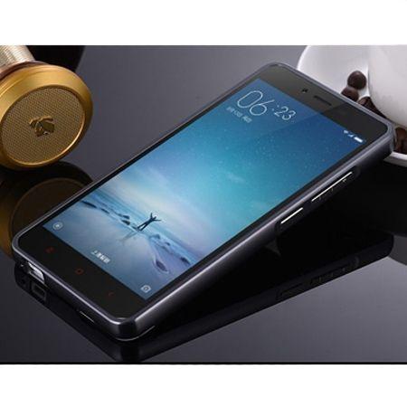 Mirror bumper case na Xiaomi Redmi Note 3 Pro - grafitowy.