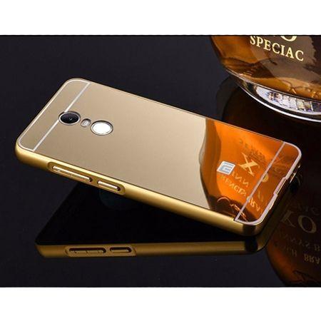 Mirror bumper case na Xiaomi Redmi Note 4 - złoty.