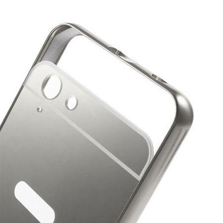 Mirror bumper case na Lenovo K5 - srebrny.