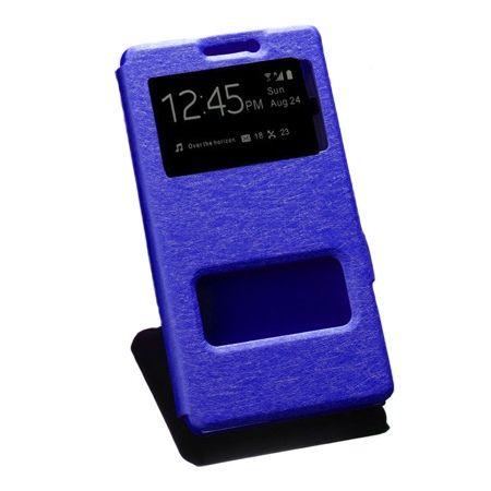 Lenovo K6 Note etui Flip Quick View z klapką dwa okienka - niebieski.