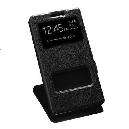 Lenovo K6 Note etui Flip Quick View z klapką dwa okienka - czarny.