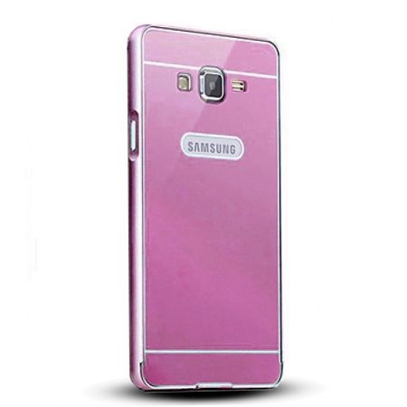 Galaxy Grand Prime etui aluminium bumper case - różowy.