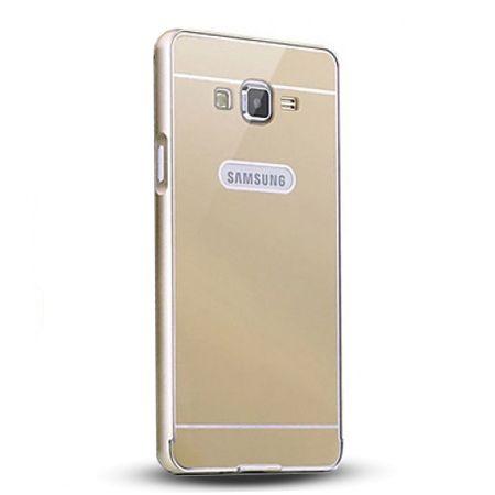 Galaxy Grand Prime etui aluminium bumper case - złoty.