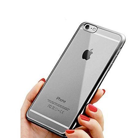 Silikonowe etui na iPhone SE platynowane SLIM - grafitowy.