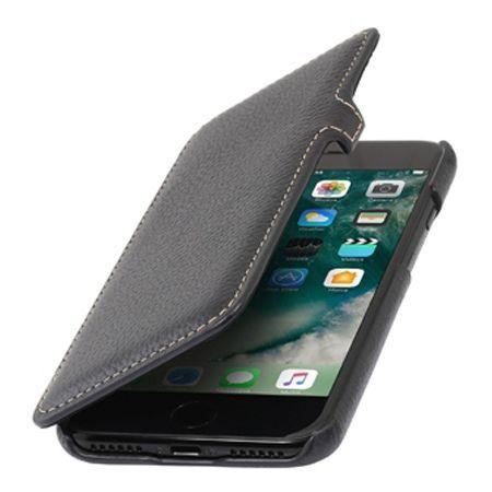 Etui na iPhone 7 Plus Stilgut BOOK skórzane z klapką - czarny