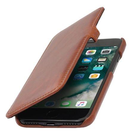 Etui na iPhone 7 Plus Stilgut BOOK skórzane z klapką - brązowy