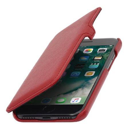 Etui na iPhone 7 Plus Stilgut BOOK skórzane z klapką - czerwony