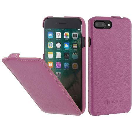 Etui na iPhone 7 Plus Stilgut SlimCase skórzane z klapką - różowy