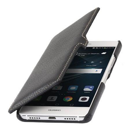 Etui na Huawei P9 Lite Stilgut BOOK skórzane z klapką - czarny