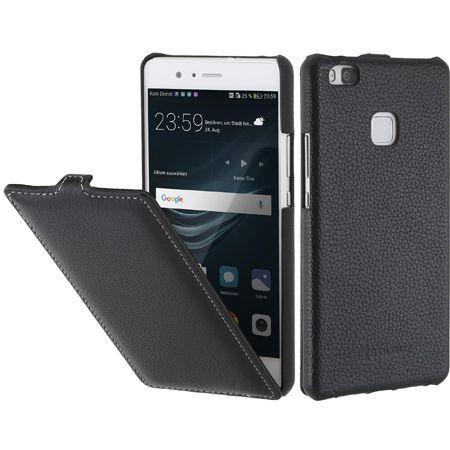 Etui na Huawei P9 Lite Stilgut SlimCase skórzane z klapką - czarny