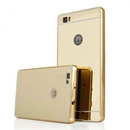 Mirror bumper case na Huawei P8 Lite - Złoty