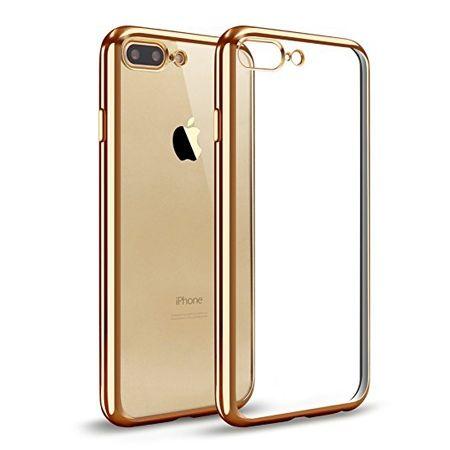 iPhone 7 Plus silikonowe etui platynowane SLIM - złoty.