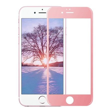 Hartowane szkło na cały ekran 3d iPhone 6 / 6s - różowy.