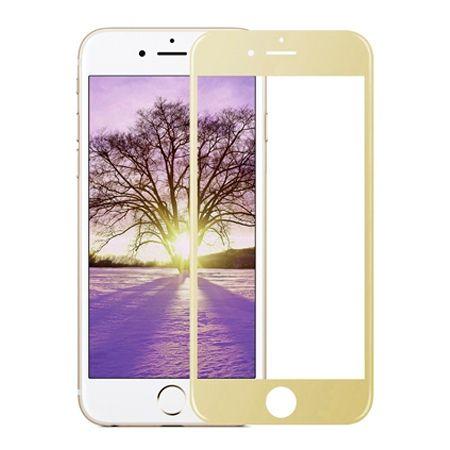 Hartowane szkło na cały ekran 3d iPhone 7 Plus - złoty.