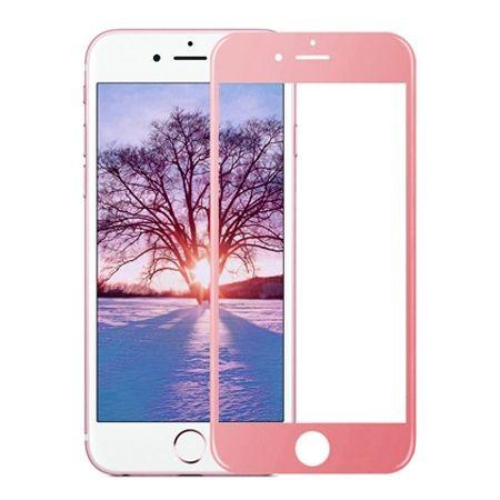 Hartowane szkło na cały ekran 3d iPhone 7 Plus - różowy.