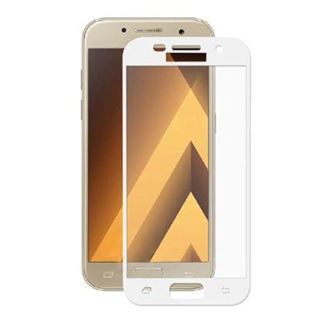 Hartowane szkło na cały ekran 3d Galaxy A5 2017 - biały.