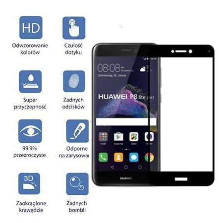 Hartowane szkło na cały ekran 3d Huawei P9 lite 2017 - biały.