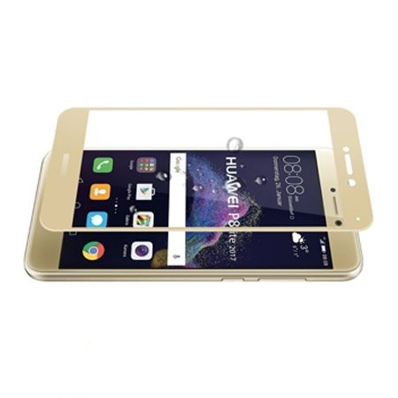 Hartowane szkło na cały ekran 3d Huawei P9 lite 2017 - złoty.
