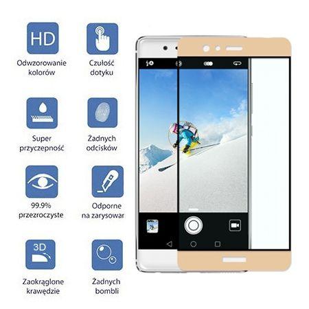 Hartowane szkło na cały ekran 3d Huawei P9 - biały.
