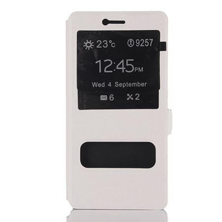 Huawei P9 Lite etui Flip Quick View z klapką dwa okienka - Białe.