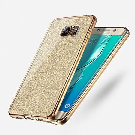 Galaxy S6 etui brokat silikonowe platynowane SLIM tpu złote.