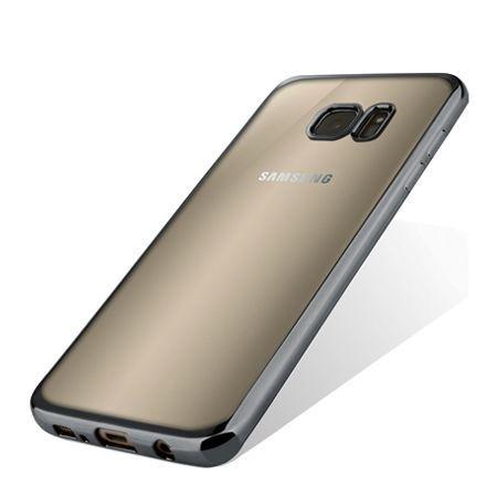 Samsung Galaxy S6 przezroczyste etui platynowane SLIM grafitowe.