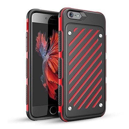 Pancerne etui Shockproof na iPhone 6 / 6s - Czerwony.
