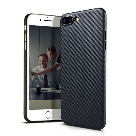 iPhone 7 Plus etui silikonowe Slim TPU Carbon.