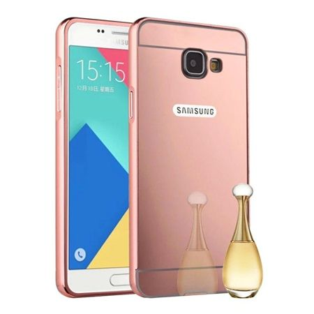 Mirror bumper case na Galaxy A5 2017 (Rose Gold) - różowy.