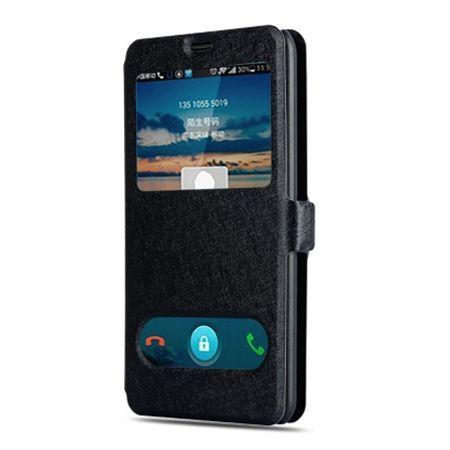 Samsung Galaxy A5 2017 etui Flip Quick View z klapką dwa okienka - Czarny.