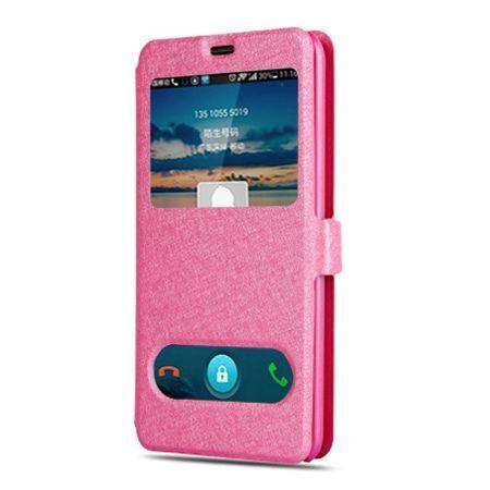 Samsung Galaxy A5 2017 etui Flip Quick View z klapką dwa okienka - Różowy.