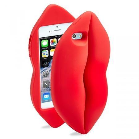 Etui na iPhone 5 / 5s czerwone usta RedLips.
