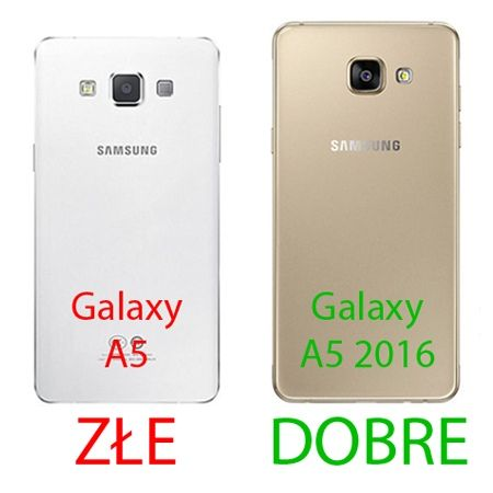Galaxy A5 2016r, przezroczyste etui crystal case.