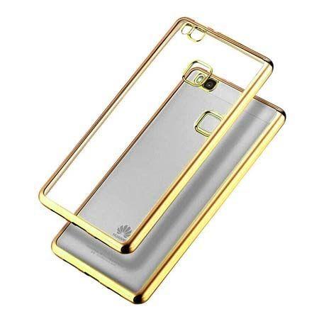 Huawei P9 Lite etui silikonowe platynowane SLIM tpu złote.