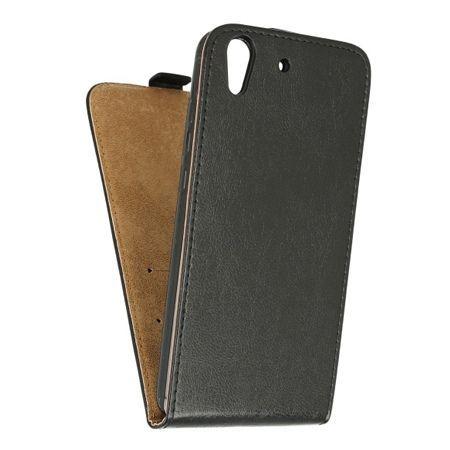 Etui na telefon Huawei Y6 II - kabura z klapką - czarny