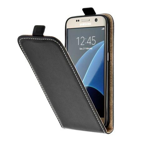 Etui na telefon Galaxy S6 - kabura z klapką - czarny