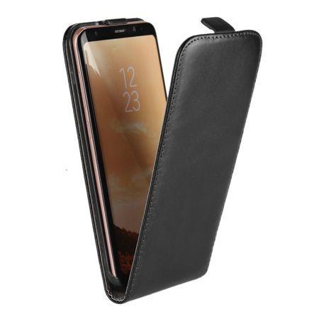 Etui na telefon Galaxy S8 - kabura z klapką - czarny