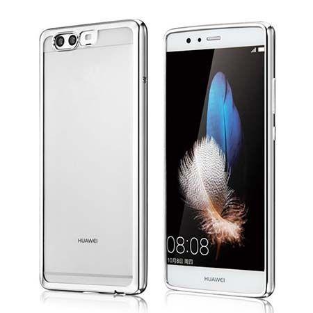 Platynowane etui na Huawei P10 silikonowe SLIM tpu - srebrne.