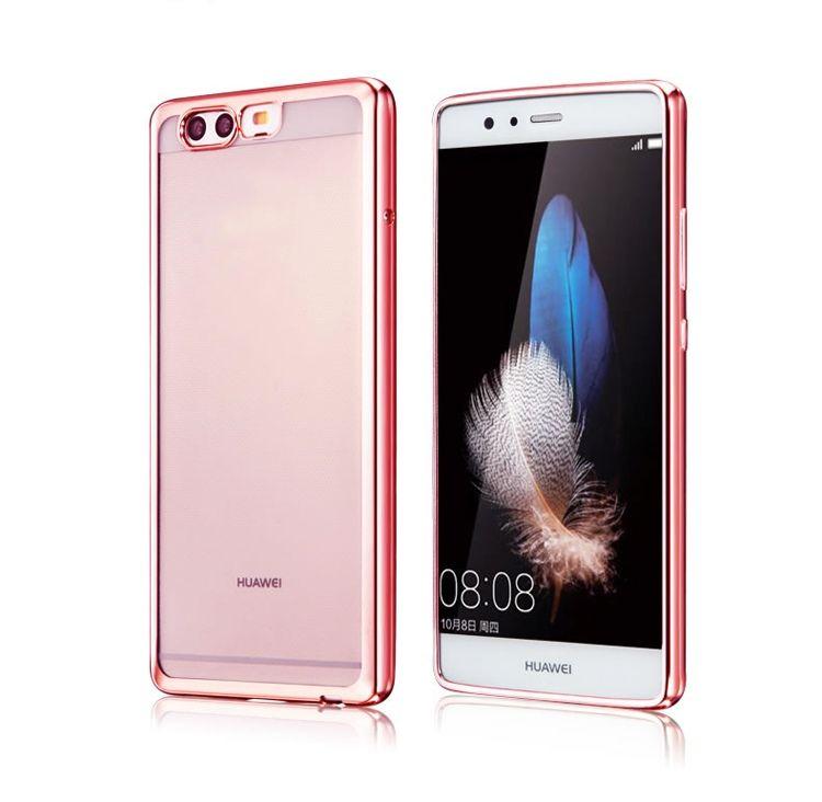 Platynowane etui na Huawei P10 silikonowe SLIM tpu - różowe.