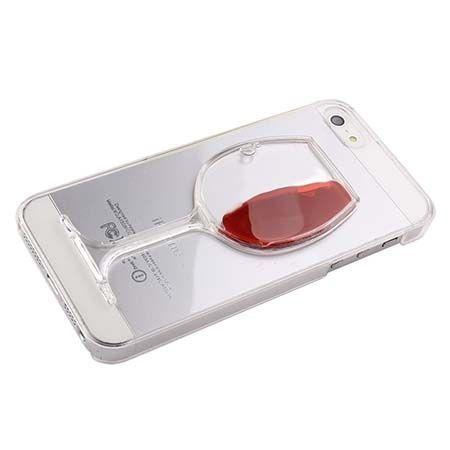 iPhone SE etui z płynem w środku czerwone wino.