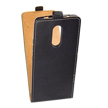 Etui na telefon Lenovo K6 Note - kabura z klapką - czarny
