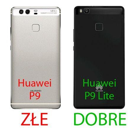 Etui na telefon Huawei P9 Lite - kabura z klapką - złoty